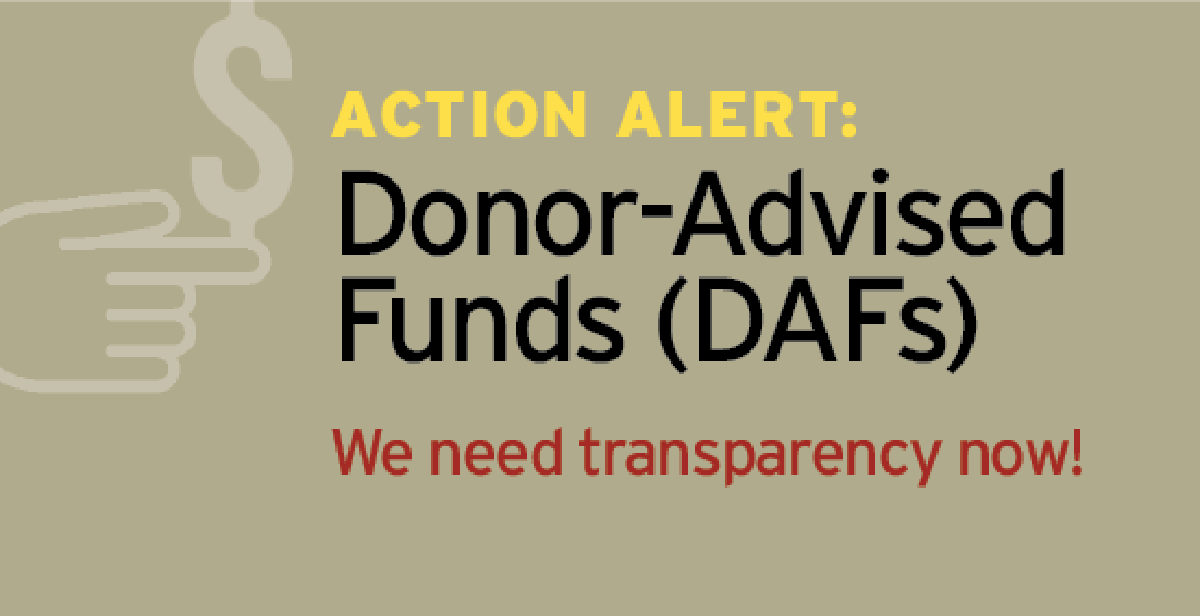 Donor Advised Funds alert1