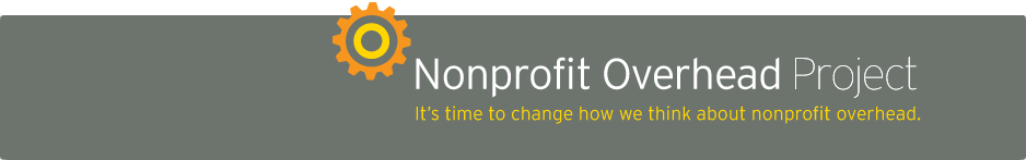 Nonprofit Overhead Project masthead graphic